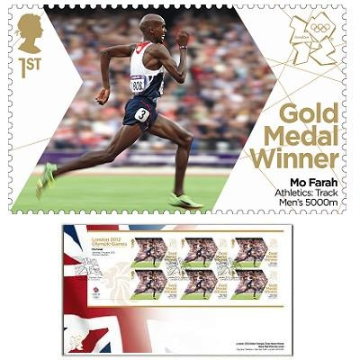 Large image of the Team GB Gold Medal Winner First Day Cover - Mo Farah