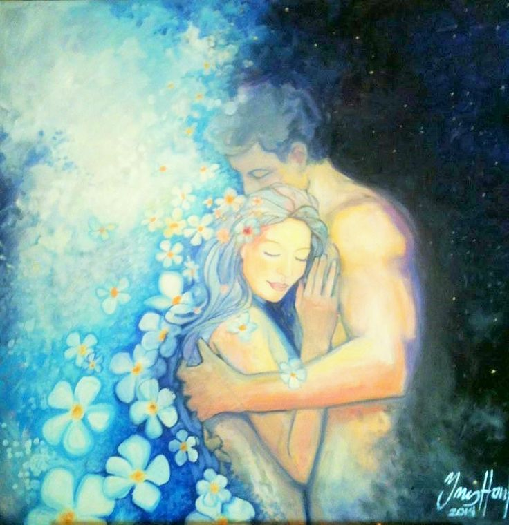 It is through their shared Love as One, through the embodiment of their Divine God & Goddess Self that the Twin Flame Soul manifests & creates their beautiful Life together as One. Their Powerful Love as One births & creates their own heavenly Paradise in the realms of pure Being ~ Jessibiah & Antiera ♥ Art ~ Spring In Love by Ines Honfi
