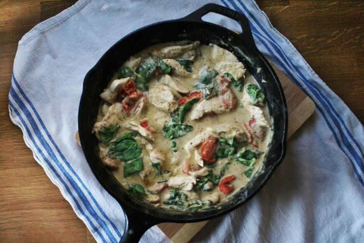 This pesto and creme fraiche chicken is probably the only recipe I've found on Pinterest that has made it's way in to our staples.