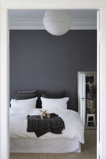 Persian grey Wallcolour by Painting the Past. Love the rabbit.