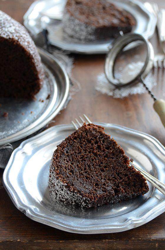 Cinnamon + Orange-Spiced Chocolate Zucchini Cake. (You won't taste the zucchini in this rich, chocolaty cake!)