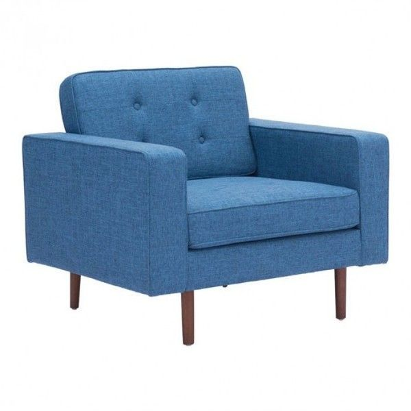 Puget Arm Chair Blue (€475) ❤ liked on Polyvore featuring home, furniture, chairs, accent chairs, blue accent chair, plush chair, blue arm chair, blue chair and blue furniture