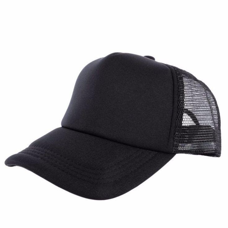 1.74$  Buy here - Cozy Unisex Attractive Casual Men Women Summer Hat Solid Baseball Cap Trucker Mesh Blank Visor Hats Adjustable   #magazineonlinebeautiful