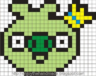 Pig Angry Birds hama perler pattern - Enjoy the HandMade