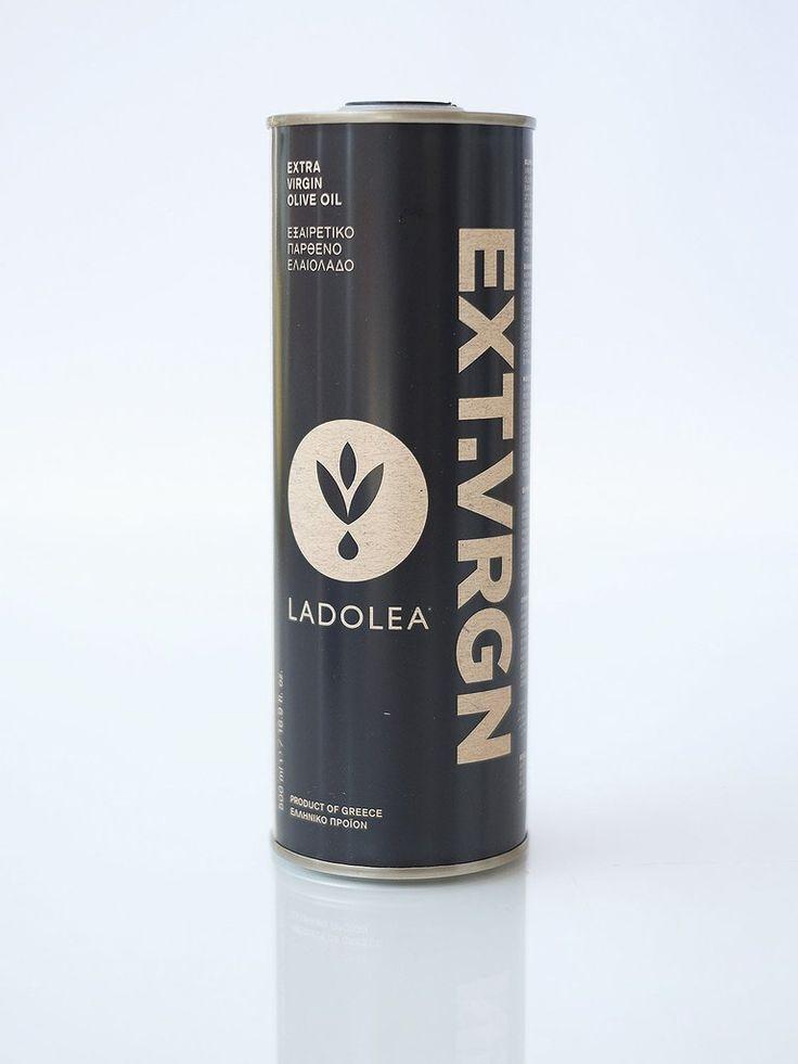 LADOLEA Extra Virgin Olive Oil - Tin - Intense Fruity - Megaritiki Variety (500ml)