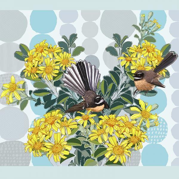 Piwakawaka. Limited edition of 45.  Lightfast print on 300gsm fine art paper by Jane Galloway http://www.palmprints.co.nz/piwakawaka-c-587.html