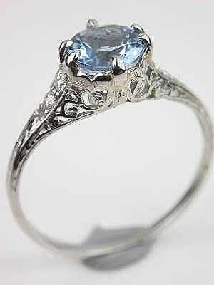 Antique Aquamarine Engagement Ring... perhaps someday. This is the most beautiful ring I've ever seen.