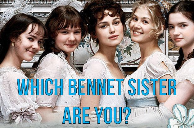 Which Bennet Sister Are You You got: Lydia Bennet The youngest Bennet sister, you're flirtatious, stubborn, and a bit of a drama queen. You're impulsive and may need to take a little more time before making decisions.