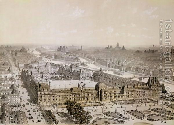The Finished Louvre and the New Rue de Rivoli by Henri Michel Antoine Chapu