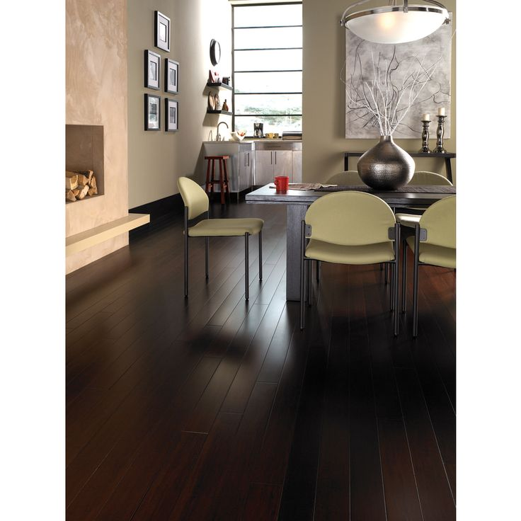 natural floors by usfloors exotic 5 35 in w prefinished bamboo locking hardwood flooring jacobean at - Lowes Bamboo Flooring
