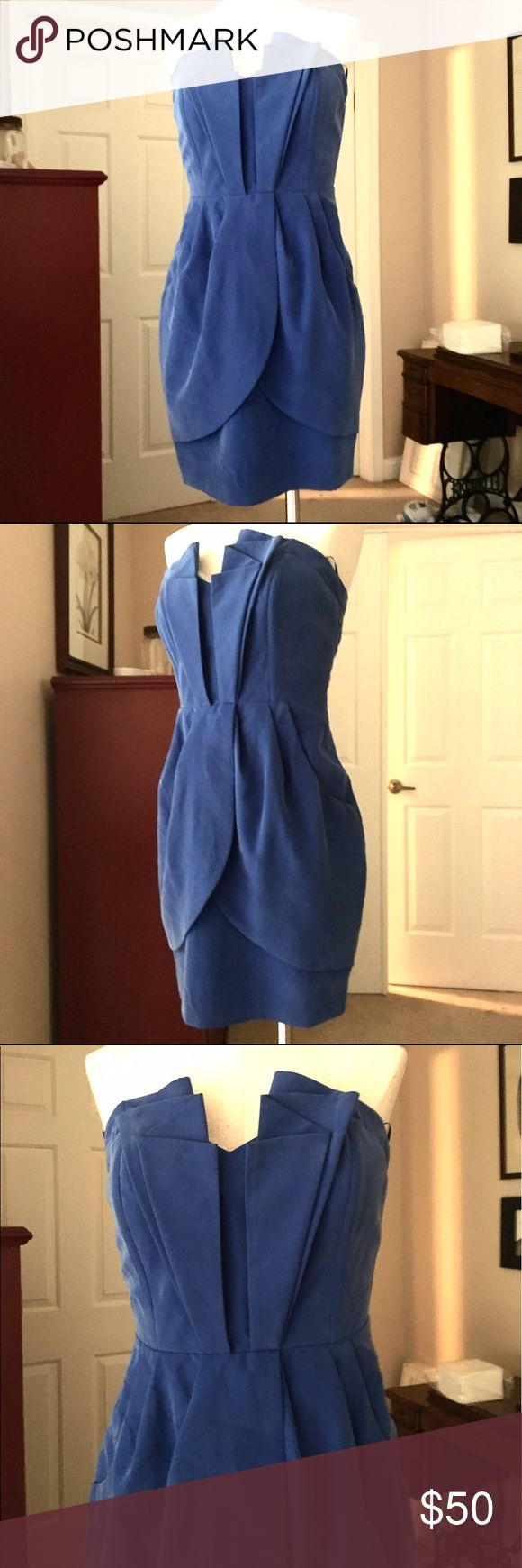 Guess Silk Royal Blue Cocktail Dress Sz 4 ❤️😍 No stains or rips. Make an offer!😍 Guess Dresses Mini