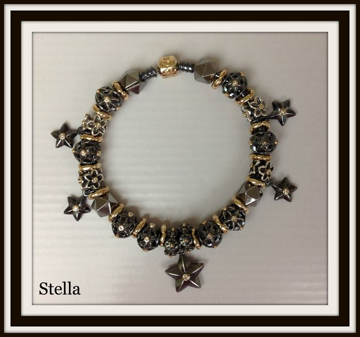 PANDORA Stella Bracelet with Edgy Oxidized and Two Tone ...