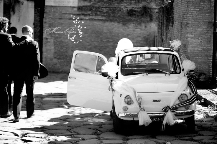 Love Rome, love fiat 500, love italian weddings...