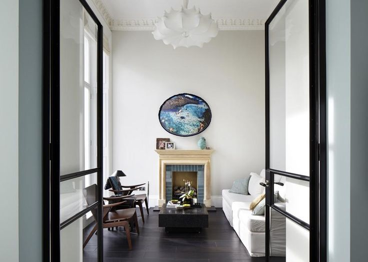 Emperor's Gate | South Kensington Crittle doors give a sense of space and openess to this period living room.