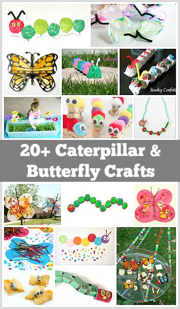 Over 20 Caterpillar and Butterfly Crafts for Kids~ Buggy and Buddy