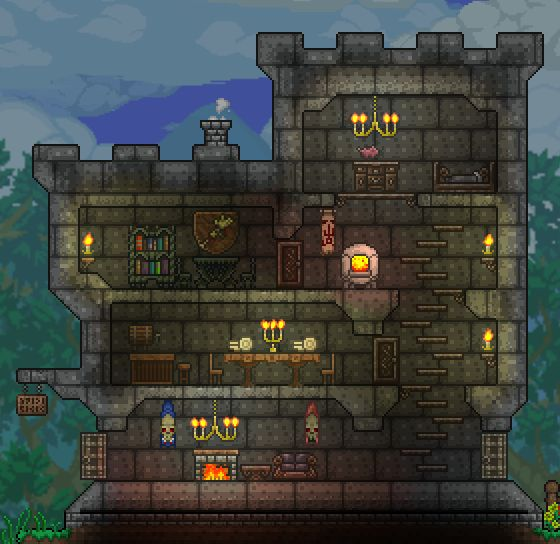 Terrarium Terraria House Design: Pin By Jeremy Sailor On Terraria