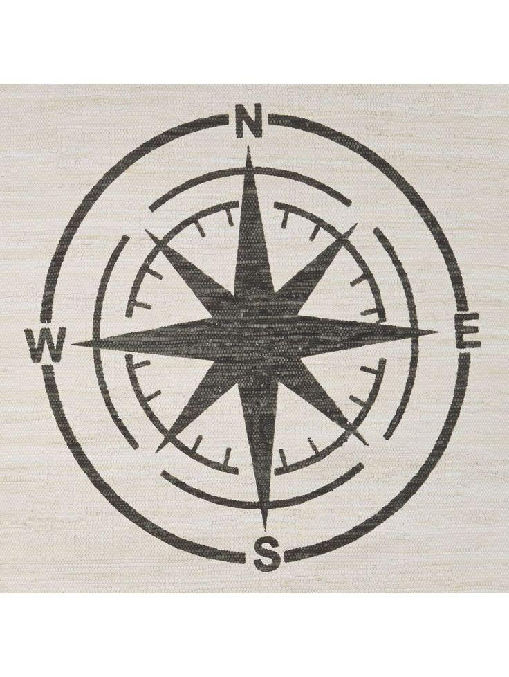 Teppich Kompass, Baumwolle
