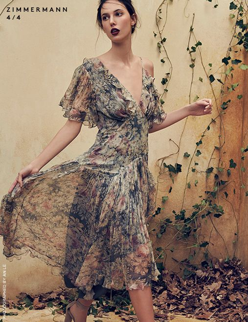 Lily Aldridge in Zimmermann photographed by An Lee for Saks Fifth Avenue.