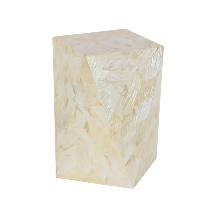Mystical Inlay White Accent Table