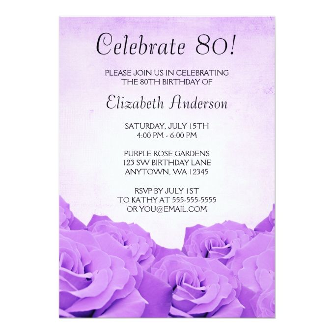 1432 best 80th birthday invitations images on pinterest, Birthday invitations