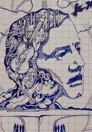 """A 9 de Abril de 1942, nasce Adriano Correia de Oliveira (1942-1982), músico e cantor, um dos mais importantes e significativos intérpretes do fado de Coimbra e da chamada """"canção de intervenção"""". ADRIANO CORREIA DE OLIVEIRA - Mural em azulejos de António Carmo (1949 - ), à entrada do Parque Biológico de Gaia, em homenagem ao músico e cantor,erigido aquando do 25º aniversário do seu desaparecimento."""