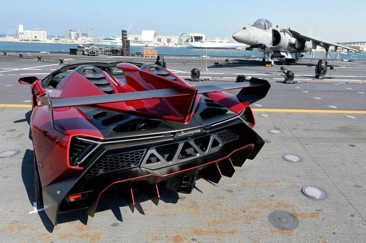 2014 Lamborghini Veneno Roadster Rear Nice