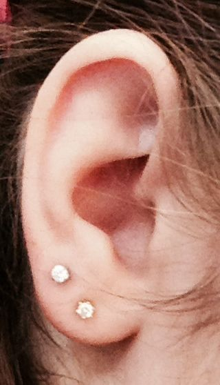 I just got the second hole done and am hoping to get the third one done as well! Maybe even a cartilage piercing sometime in the future, not for a while yet.