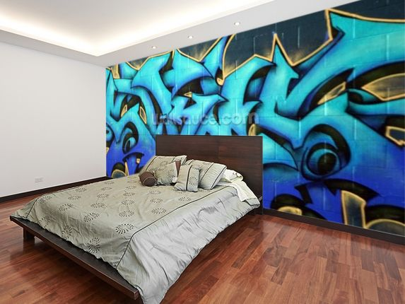 street graffiti spraypaint wall mural graffiti pinterest chambres. Black Bedroom Furniture Sets. Home Design Ideas