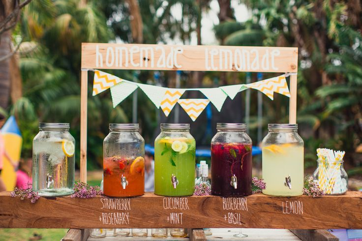 Homemade Lemonade stand, engagement party