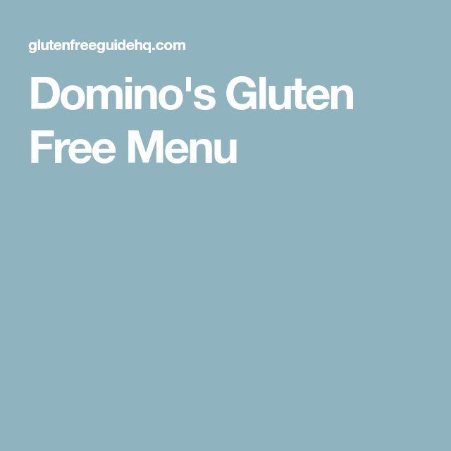 Domino's Gluten Free Menu
