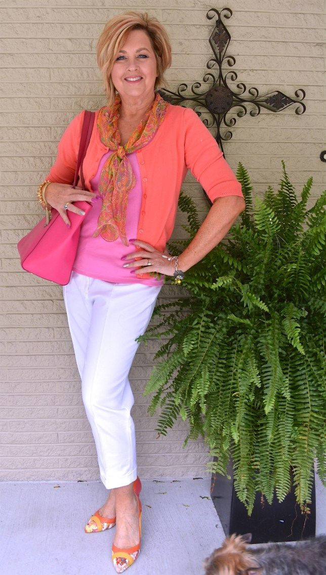 50 IS NOT OLD   HOW TO COORDINATE A LOOK   Work appropriate   Summer   Fashion over 40 for the everyday woman #ninashoes #pumps #colorful #sassy