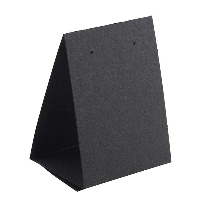Black Textured Paper Earring Tent Card Earring Cards Template Earring Cards Earring Card Display
