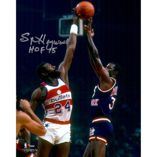 Spencer Haywood Washington Bullets Fanatics Authentic Autographed 8'' x 10'' Blocking Photograph with HOF 15 Inscription - $59.99