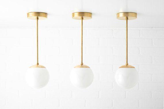 Mid Century Modern Neckless Globe Light Pendentif Light
