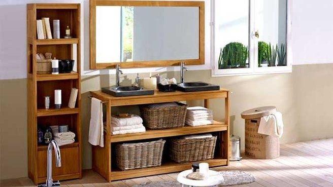 nice Idée décoration Salle de bain - Salle de bains bois exotique... Check more at https://listspirit.com/idee-decoration-salle-de-bain-salle-de-bains-bois-exotique/