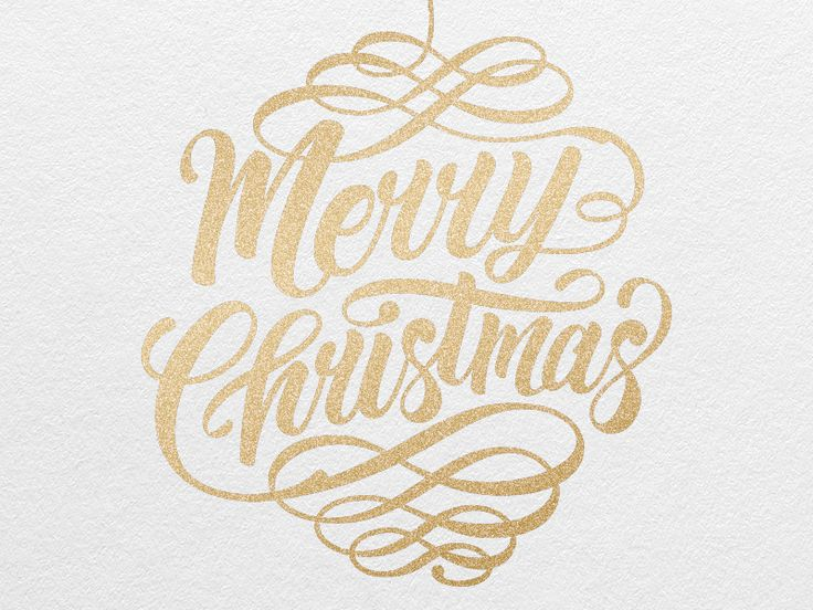 Merry Christmas by Philip Eggleston - I like how the swirls give it an ornament look