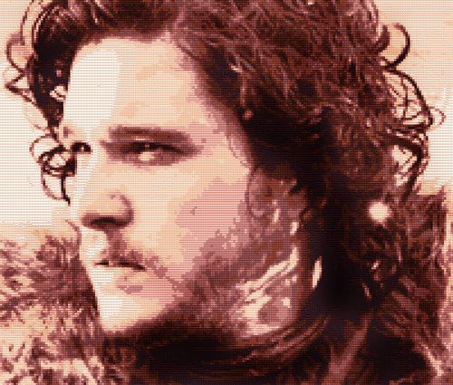 Game of Thrones Jon Snow Cross Stitch by CrossStitchTreasury