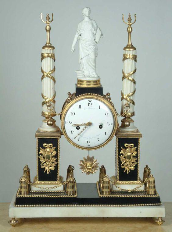 ** French Circa 18th C Louis XVI Antique Mantel Clock 1790:
