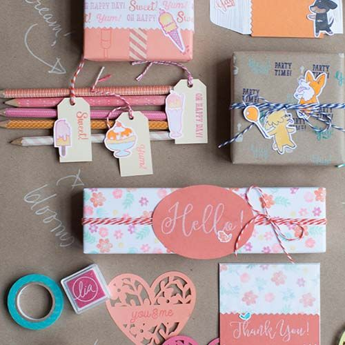 DIY Customized Gift Wrap with Stamps