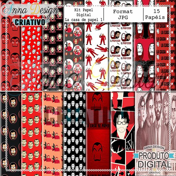 Digital Paper Kit La casa de papel 01