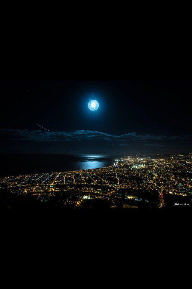 Moonlight over Saint-Denis - Reunion Island