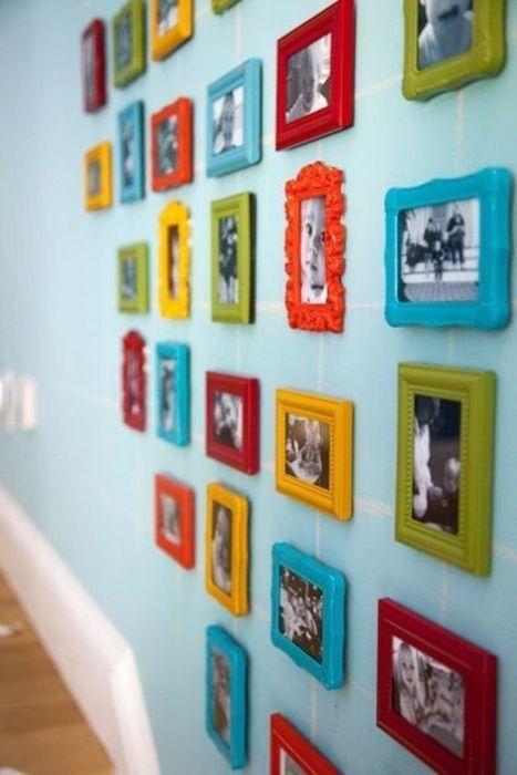 Много-много-много фото на стене | Украшение рамок, Идеи ...