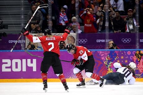 Canada beat the USA 3-2 in sudden death, in women's ice hockey Final