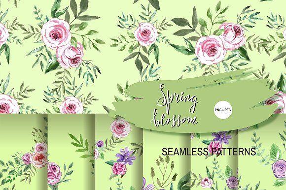 Spring blossom by TATIANA_GERICH on @creativemarket
