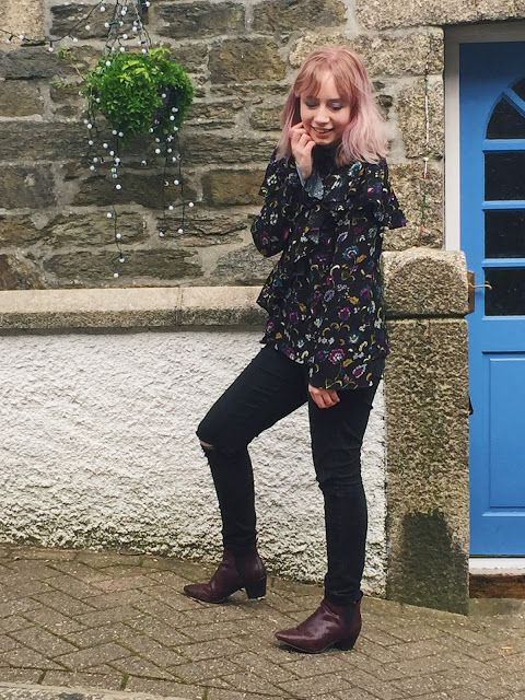 Hey Guys,                             Top -  Marks & Spencer   Jeans - Primark   Boots - Primark     The ruffle trend is everywhere at th...