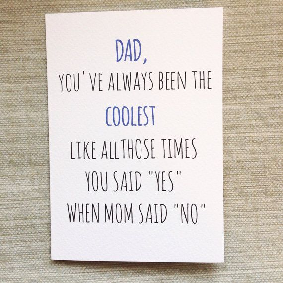 Funny Cheeky Father's Day Card by PipAndElwood on Etsy