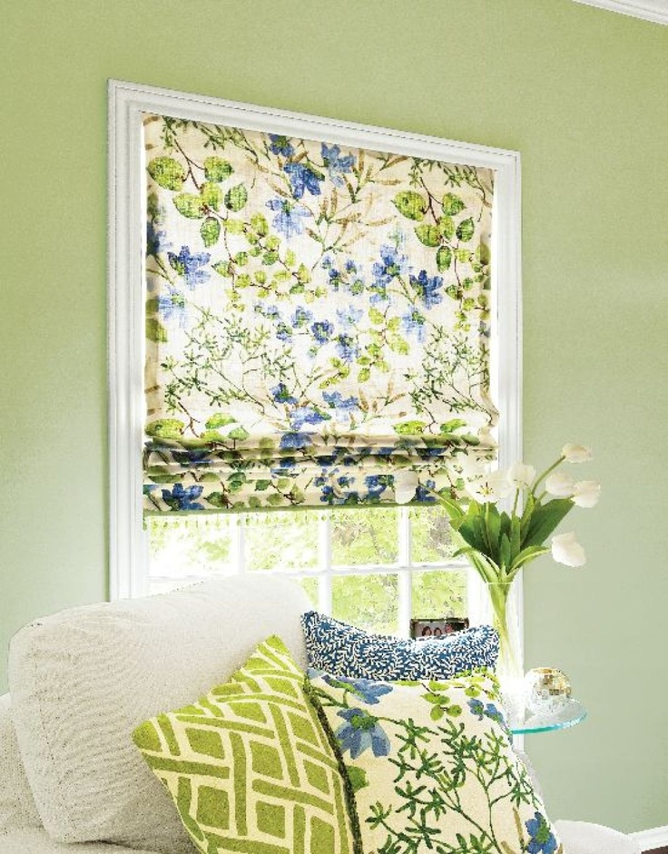 72 best images about pillow party on pinterest fabric for Fabric shades for kitchen windows