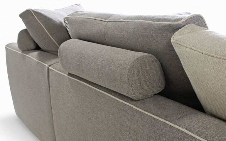 Fixed bolster cushions at the back...URBAN Sofa for Roche Bobois Collection 2014 by Sacha Lakic Design