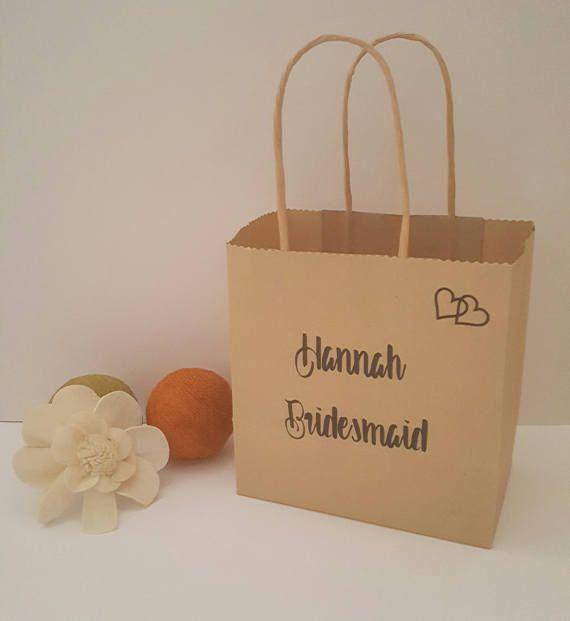 Personalised Gift Bag Bridesmaid Gift Bag Wedding Favour