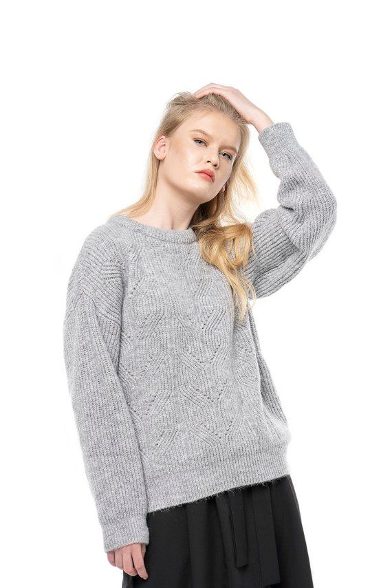 Cashmere Sweater. Oversized sweater. Knit sweater. Light